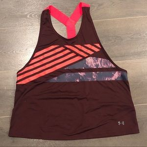 Under Armour Athletic Tank Top Burgundy L